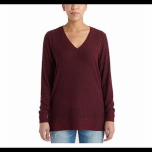 Lucky Brand Wine V-Neck Tunic